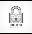 Digital Security Concept vector image