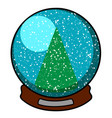 isolated christmas ornament vector image