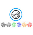 round radar rounded icon vector image