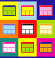 web window sign pop-art style colorful vector image