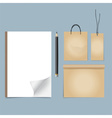 Collection of business items various papers paper vector image