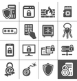 IT Security icons Simplus series vector image vector image
