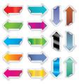 arrows stickers vector image vector image