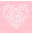 Floral heart Valentines day card vector image
