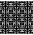 Design seamless monochrome geometric pattern vector image