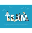 Project teamwork concept of business vector image