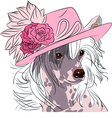 hipster dog Chinese Crested breed vector image