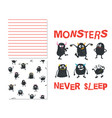 monsters never sleep vector image