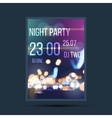 Night invitation flyer template vector image