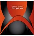 Orange black background infographic inform vector image