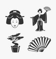 set of elements japan vector image