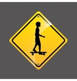 skater person sign sport extreme design vector image