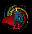 super hero man standing arms across the chest vector image