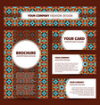 moroccan mosaic pattern corporate identity design vector image vector image