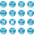 internet and computing media icons vector image vector image