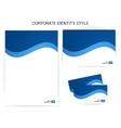 Sample of stylish corporate identity style vector image