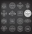Tattoo studio logo design vector image