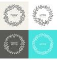 abstract logo design templates vector image vector image