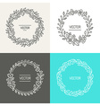 abstract logo design templates vector image