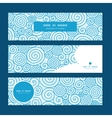 abstract swirls horizontal banners set pattern vector image