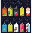 Christmas grunge tags vector image