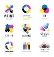 CMYK logo templates vector image