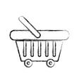 figure supermarket basket element to buy products vector image