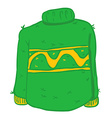 green wool sweater vector image
