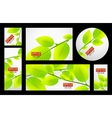 Nature banner set vector image