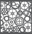 pattern silhouette cut gears vector image