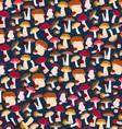 Seamless mushroom pattern vector image