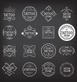Tattoo studio logo design vector image