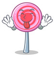 tongue out cute lollipop character cartoon vector image