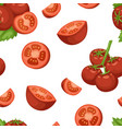 vegetable organic food ripe sliced tomato seamless vector image