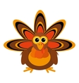 turkey character thanksgiving icon vector image