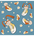 pattern shoes vector image