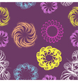 Abstract swirl retro seamless pattern vector image