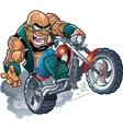 Wild Bald Biker Dude vector image vector image