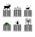 Black and white Christmas barcode vector image