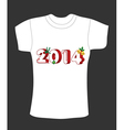 New years t-shirt design vector image