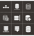 database icon set vector image