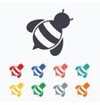 Bee sign icon Honeybee or apis symbol vector image