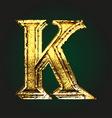 k golden letter vector image vector image