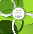 Abstract green background with circles and rings vector image