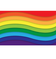 Abstract rainbow curve background vector image