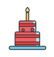 birthday cake concept line icon editable vector image