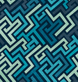 blue labyrinth seamless texture with grunge effect vector image