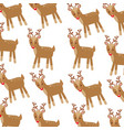 christmas cute winter reindeer decoration pattern vector image