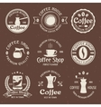 Coffee Emblem Set In Color vector image