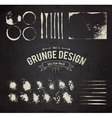 Dirty Grunge Elements Set vector image